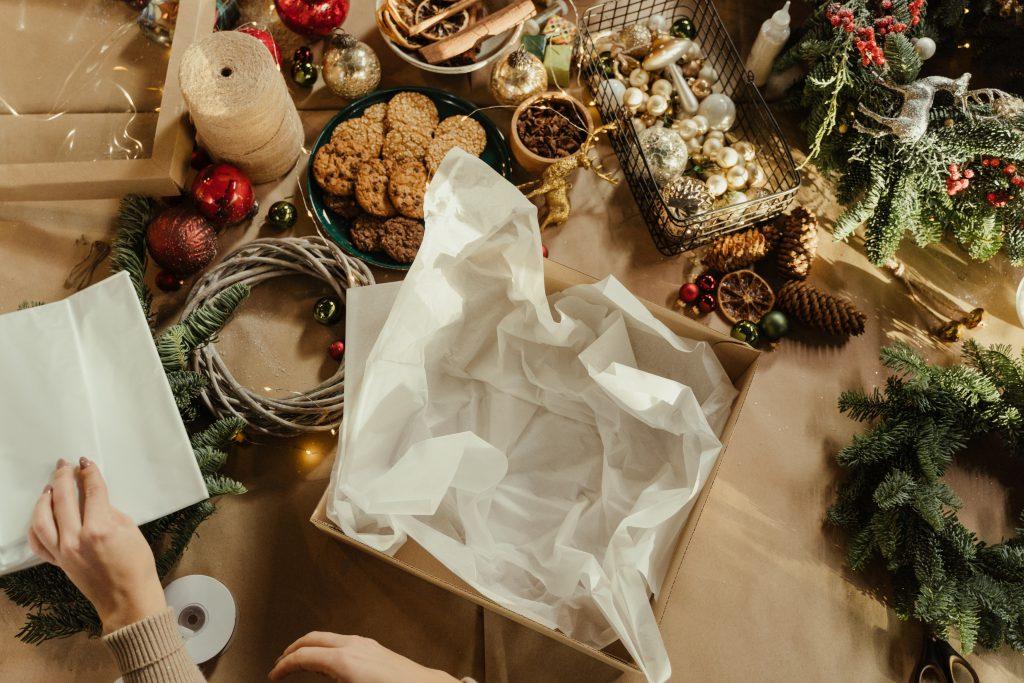 kerstpakket openen